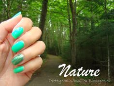 "Spending time with nature while we can. while the summer's sunshine grace us with warmth and luscious trees cover our pathways. Then we wear green to match :-) (Featuring China Glaze ""In The Lime Light"" and Pure Ice ""Lucky Charming"" Pretty Nail Art, Green Nails, Some Times, China Glaze, Nail Arts, Natural Nails, Pathways, Sunshine, Lime"