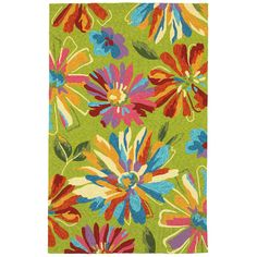 LR Resources Orleans Green Indoor/Outdoor Area Rug & Reviews | Wayfair