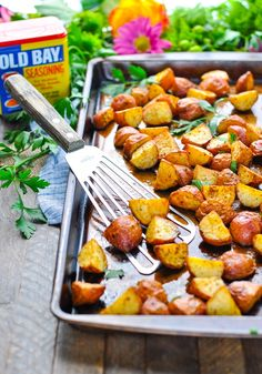 This recipe for 3-Ingredient Crispy Seasoned Red Potatoes is one of those easy side dishes that you'll turn to over and over again to complete your meal.