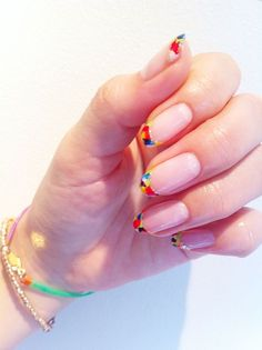 Love Nails, Pretty Nails, Unicorn Nails, Minimalist Nails, Manicure Y Pedicure, Spring Nail Art, Japanese Nails, Fabulous Nails, Beautiful Nail Art
