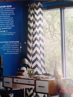 Curtains drapes 50 x 108 ash gray and white chevron zig zag