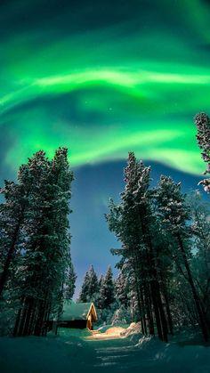Aurora Winter IPhone Wallpaper - IPhone Wallpapers
