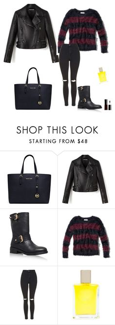 """""""Untitled #353"""" by micha-p ❤ liked on Polyvore featuring MICHAEL Michael Kors, Kurt Geiger, Abercrombie & Fitch, Topshop, Yosh and Giorgio Armani"""