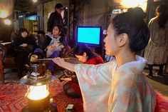 Mai Ueda serves tea in a factory art space in Osaka The Rundown, Japanese Tea Ceremony, Osaka, Mindful, Space, Travel, Life, Art, Floor Space