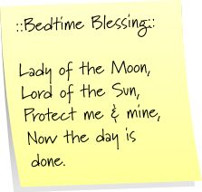 Bedtime Blessing  Post-It Note Tuesdays: Edition 6   Mom's a Witch