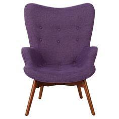 Hariata Fabric Contour Chair - Christopher Knight Home, Purple
