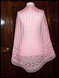 """Golden Triple Leaf Shawl"" knit in 100% Peruvian Highland wool fingering weight yarn (pattern by Magdalena Roslaniec)"