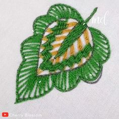 EMBROIDERY LEAF DESIGN You are in the right place about crochet toys Here we offer you the most beautiful pictures about the crochet animals you. Etsy Embroidery, Hand Embroidery Videos, Hand Embroidery Flowers, Embroidery Stitches Tutorial, Creative Embroidery, Simple Embroidery, Sewing Stitches, Learn Embroidery, Silk Ribbon Embroidery