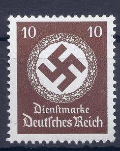 Germany Nazi Third Reich Nazi 1942 Swastika 10 stamp MNH WW2 Era #d  | eBay
