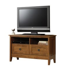 Sauder August Hill Oiled Oak Television Stand 410627