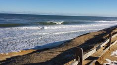 Some post N'oreaster waves at Cahoon Hollow Beach in Wellflleet on Cape Cod