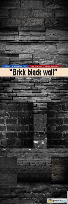 Brick black wall  stock images