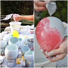 [DIY]: Decorative eggs for planting on the Easter table – Smilla's feeling of wellbeing – DIY – Ostern – Home Decor Diy Ostern, Gypsum, Easter Table, Easter Eggs, Decoration Table, Plaster, Easter Crafts, Diy Home Decor, Diy And Crafts