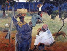 Paul Gauguin - Post Impressionism - Aux Mangots, la récolte des fruits - 1887