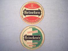 Vintage Heineken Beer Drink Coasters Beer Mats Dutch Holland Vintage Paper, Vintage Items, Old Plates, Beer Mats, Beer Coasters, Green Logo, Holland, Barware, I Shop