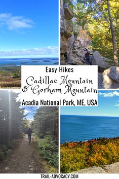 Acadia National Park is stunning, especially in the fall. It's filled with great ocean vistas, rocky trails and pops of red and yellow. Cadillac Mountain and Gorham Mountain are two easy hikes/drives along Park Loop Road that will give you a quick way to take it all in! #acadianationalpark #nationalparks #hiking #easyhikes #trails #maine Costa Rica Travel, Cuba Travel, Mexico Travel, National Parks Usa, Acadia National Park, Mountain Trails, Mountain Hiking, Canada Travel, Travel Usa