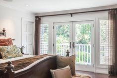Room with a View :  Neil Patrick Harris's California home. This is a shot of his gorgeous bedroom leading to a private balcony... perfect for that morning cup of coffee!