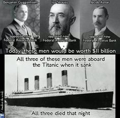 Federal Reserve - Titanic Key deaths