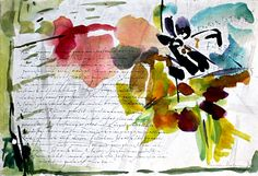 a journal entry and splashing colors of that day that inspire or convey mood or place