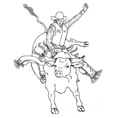 Bucking bronco coloring page Pony Camp Craft Ideas Pinterest