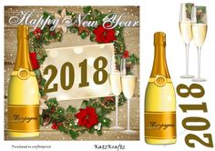 Happy New Years 2018- 1 by Donna Kelly This is a quick and easy New Years card, sheet includes elements, and card front ~7x7.: This is a…