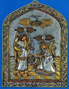 Икона Тиносская (Благовещение) или Живоприемный Источник  «Великое Радование » (Мегалохари) .Празднование 30 января ст.стиля