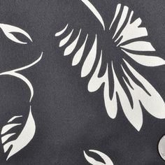 Black Floral Crepe-Back Satin Print Fabric by the Yard | Mood Fabrics