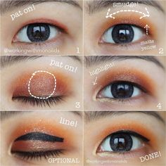 Ahead, find out why this woman's eyeliner hack for hooded and monolids is going viral right now. Spoiler alert: It's surprisingly simple to recreate. #HormonalAcneRemedies Eyeliner Hacks, Red Eyeliner, Simple Eyeliner, Perfect Eyeliner, How To Apply Eyeliner, Perfect Eyes, Orange Eyeshadow Palette, Eye Palette, Makeup Tips For Brown Eyes