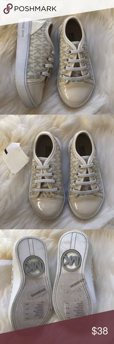MK cream toddlers size 8 logo sneakers New with tags Michael Kors Shoes Sneakers