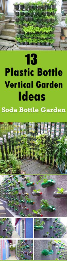 13 Soda Bottle Vertical Garden Ideas http://livedan330.com/2016/01/22/13-soda-bottle-vertical-garden-ideas/