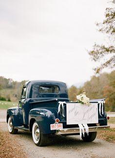 elegant going away truck | Chris Isham #wedding