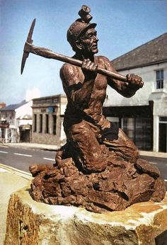 Deanweb- Forest of Dean- Local news, history s for Coleford, Cinderford, Lydney and Newent Modern Sculpture, Sculpture Art, Forest Of Dean, Coal Miners, Mining Equipment, Catacombs, Slums, Creative Art, Street Art