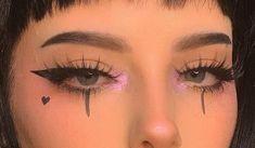 - Make - up - (🎱 ) 𝚌𝚘𝚜𝚖𝚒𝚌 𝚐𝚘𝚝𝚑༉‧₊. - - - Make - up - (🎱 ) 𝚌𝚘𝚜𝚖𝚒𝚌 𝚐𝚘𝚝𝚑༉‧₊˚✧ Edgy Makeup, Makeup Eye Looks, Pretty Makeup, Makeup Goals, Makeup Inspo, Makeup Art, Makeup Inspiration, Hair Makeup, Grunge Eye Makeup