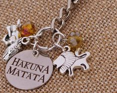 Warthog Image Metal Spinning Keyring in Gift Box