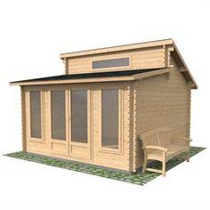 x Deco Log Cabin Double Door Home Office Outdoor Summer house Office Kit, Home Office, Outdoor Office, Garden Studio, Garden Buildings, Double Doors, Home And Garden, Garden Homes, Chalets
