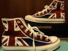 London Night custom converse by DonutBricks on Etsy, $100.00
