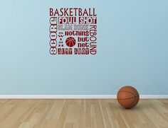 Basketball Vinyl Wall Decal   Children's Decor by NotableMention, $22.00