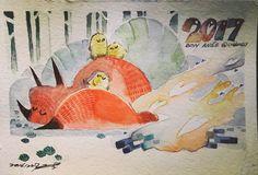#illustration #watercolor #postcard #fox #art
