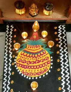 Beautiful Rangoli Designs, Simple Rangoli, Birthday Candles, Life Quotes, Colorful, God, Quotes About Life, Dios, Quote Life