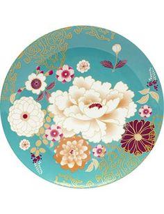 Image for Kimono Cake Plate from David Jones  sc 1 st  Pinterest & Found it at AllModern - Bazaar Dinner Plate (Set of 4) | Crockery ...