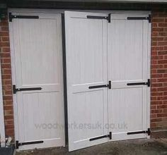 Bi-folding garage doors are a great space saver
