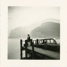 Vintage Photo Mystery at the Pier Photography Paper by dawnandross