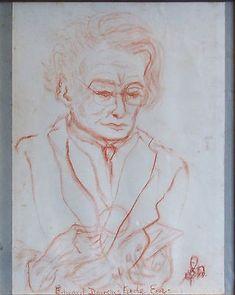 Chalk Portrait Drawing ~ Edward Douglas Eade ~ Sheila Penelope Dunbar Walker | #513699184