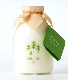 I love to get my milk in a bottle like this