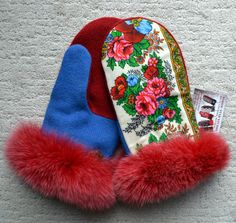 RUSSIAN STYLE MITTENS  Handmade  100% wool by NordicStarStudio