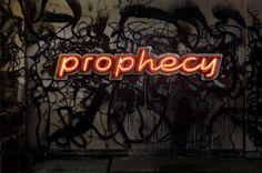 Pietro Sanguineti, Prophecy 2012 Aluminium, steel, varnish, neon 289 x 59 x 21 cm
