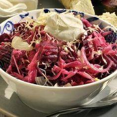 salát z červené řepy Cabbage, Salads, Food And Drink, Beef, Vegetables, Milan, Anna, Image, Rezepte