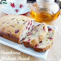 Cranberry Walnut Bread - the perfect gift for friends & family! #cranberries #holidays #Christmas #baking #recipes #food #dessert #bread