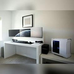 Oh. My. God. Have you ever seen such a beautiful thing? Mind = blown. Part II. - - Tag a friend who might like this page! - DM or Kik me your setup to be featured! #setup #dreamsetup #workstation #battlestation #workspace #pcgaming #deskspace #desksetup #