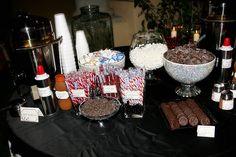 hot cocoa bar for the Polar Express